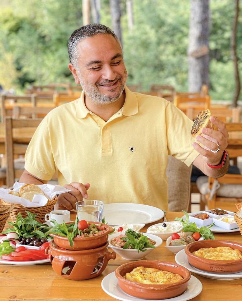 Anthony Rahayel in one of his visits to local restaurants