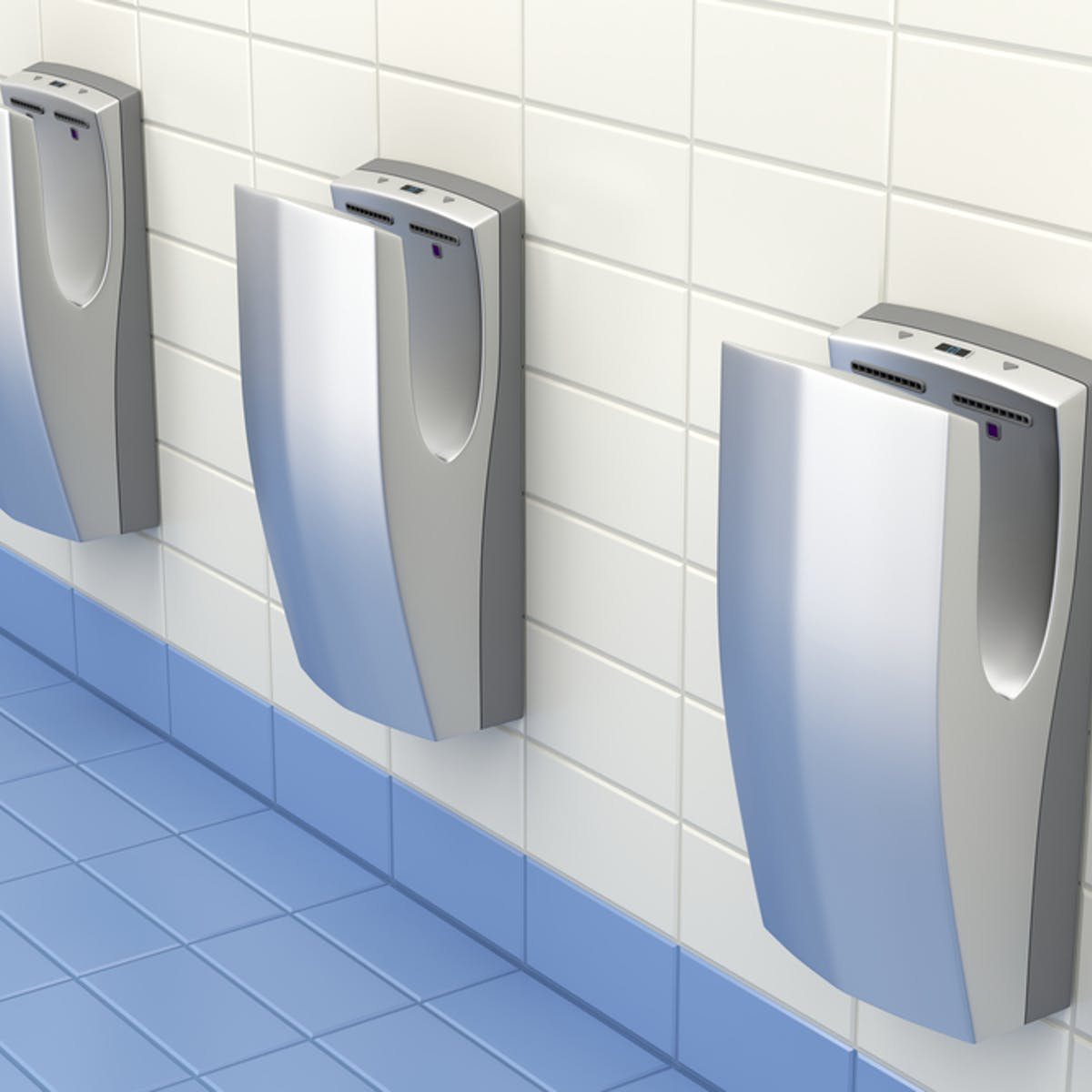 Hands dryers placed in washrooms for customers instead of paper towels
