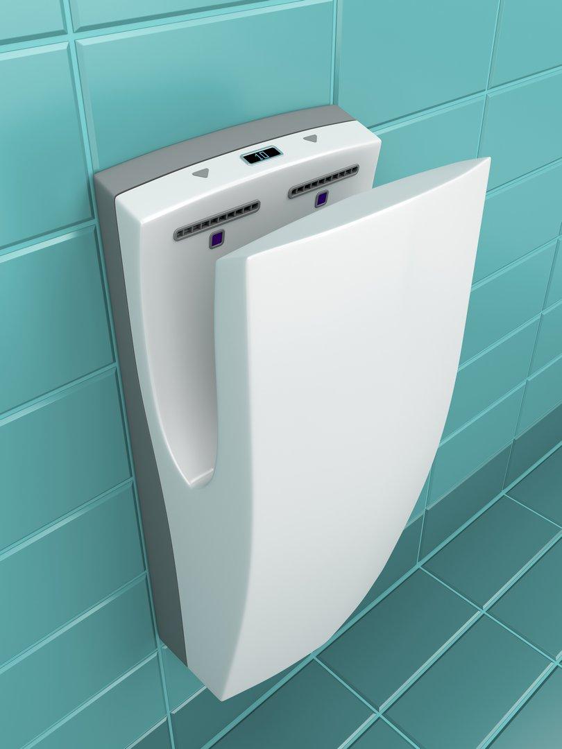 منشف اليدين في الحمامات بدلا من المحارم للتوفير