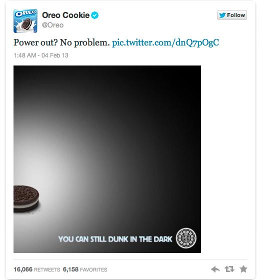 Oreo dunk in the dark campaign
