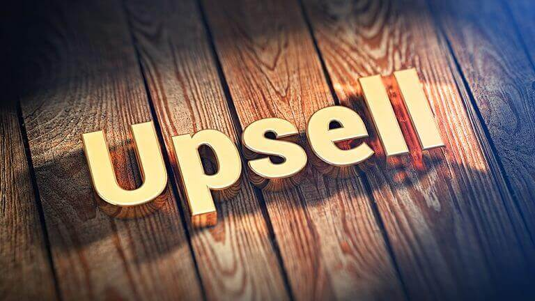 Different ways to upsell