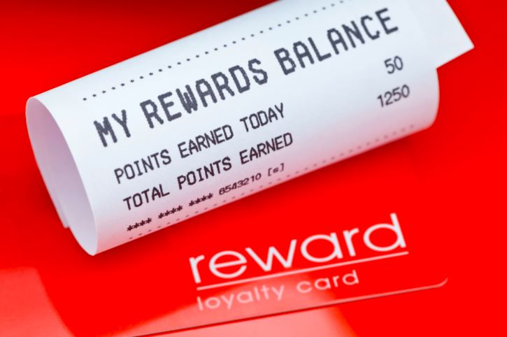 Loyalty cards balance shown in receipt
