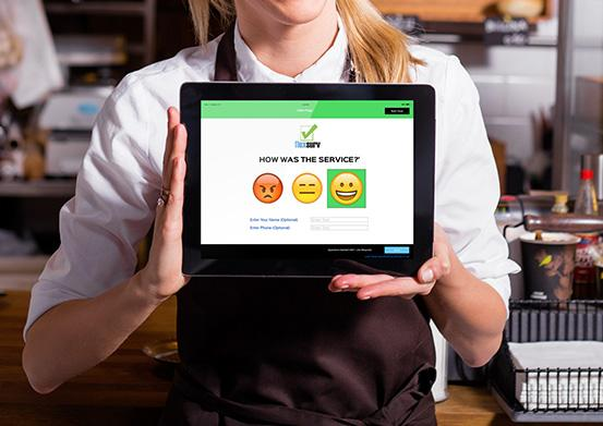 Flexsurv digital comment card and customer feedback systems for restaurants and cafes on tablets. Digitize customers feedbacks and surveys using flexsurv