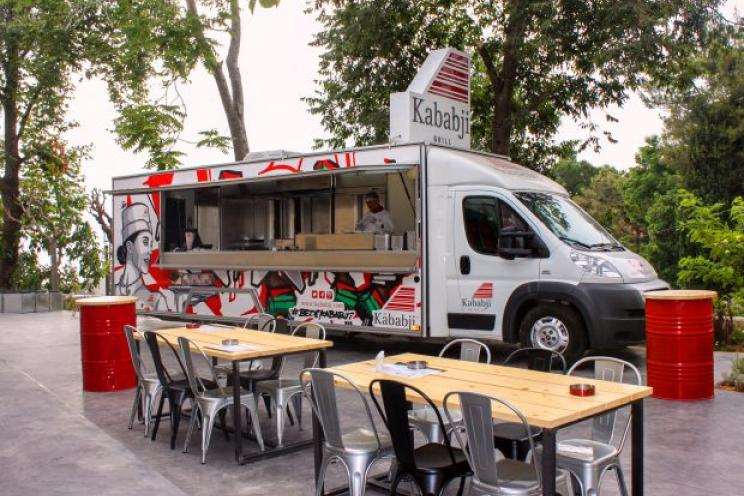 Lebanese Kababji food truck serving clients in Washington DC